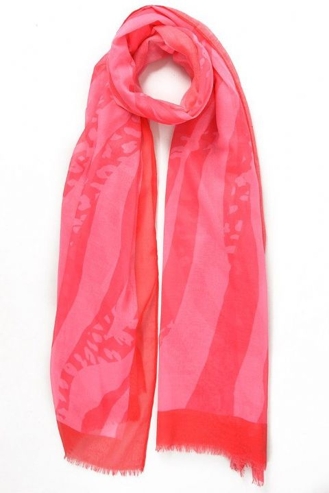 RED AND PINK ABSTRACT SCARF